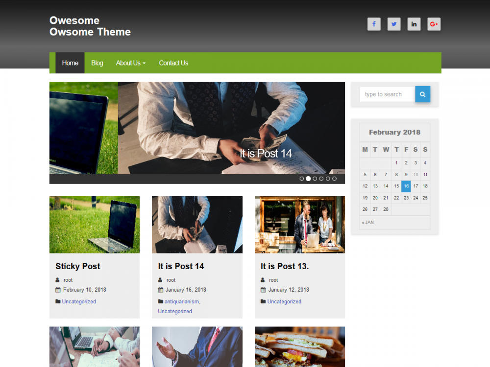 owesome wordpress theme